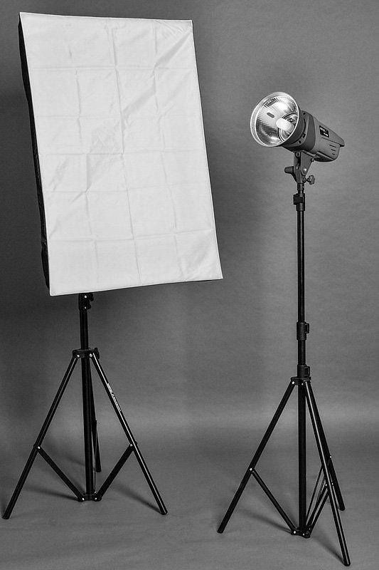 Lichtformer: Softbox und Normalreflektor