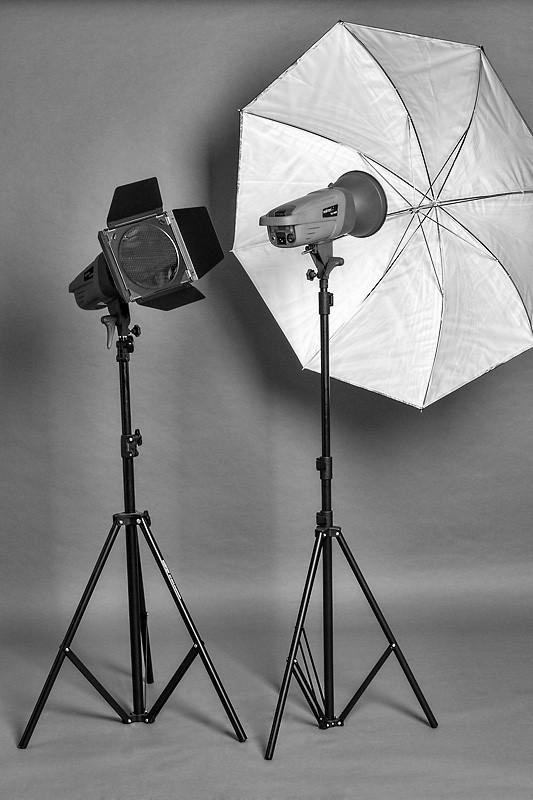 Lichtformer: Farbfolie und Schirm