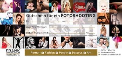 Gutschein für ein Fotoshooting