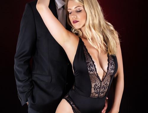 Anzug und Spitze